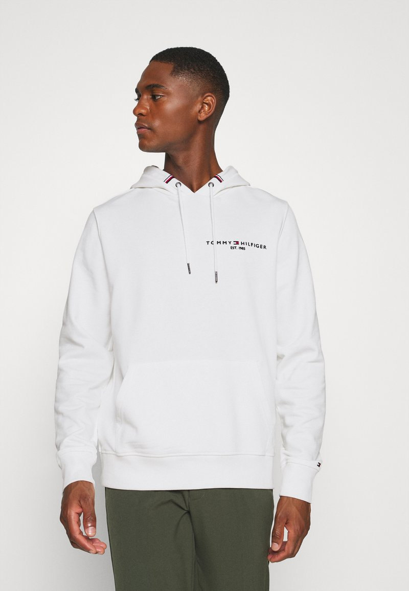 Tommy Hilfiger - SMALL LOGO HOODY - Sweat à capuche - white