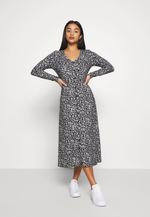 PRINT MIDI SOFT TOUCH DRESS - Jersey dress - greige