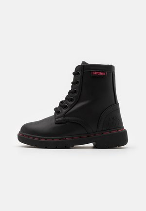 DEENISH UNISEX - Winter boots - black/pink