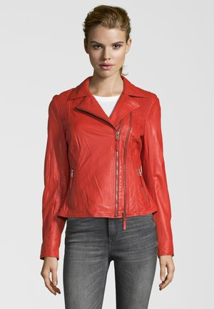 NINA - Leather jacket - fire red