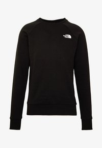 The North Face - RAGLAN BOX CREW - Mikina - black/white - 3