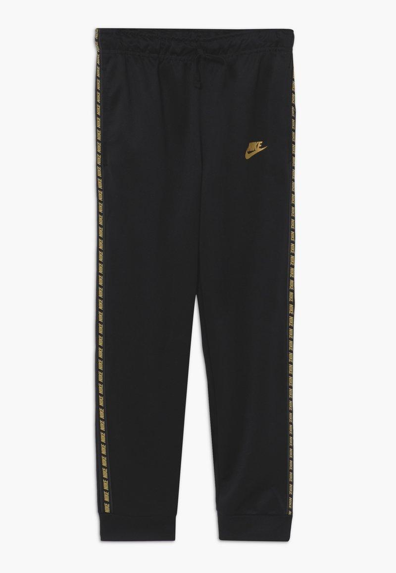 Nike Sportswear - REPEAT PANT POLY - Tracksuit bottoms - black/metallic gold