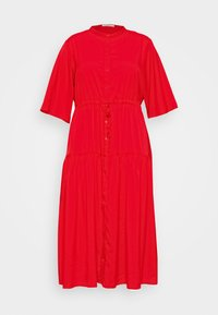 Glamorous Curve - TIE WAIST SHIRT DRESS - Blousejurk - coral red - 3