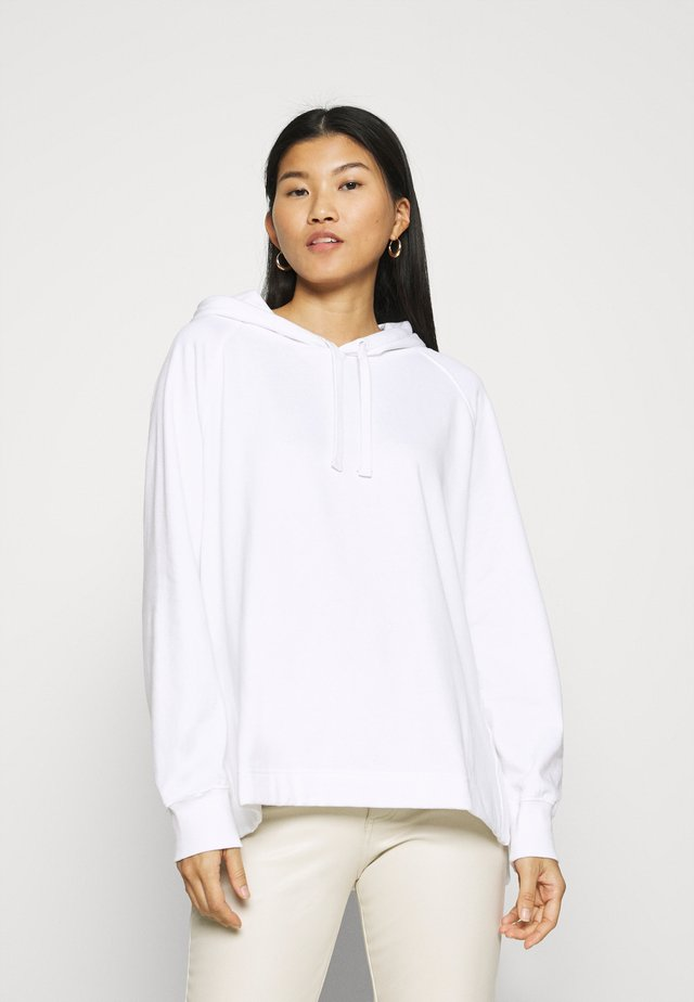 SIDE VENT OVERSIZED HOODIE - Luvtröja - optical white