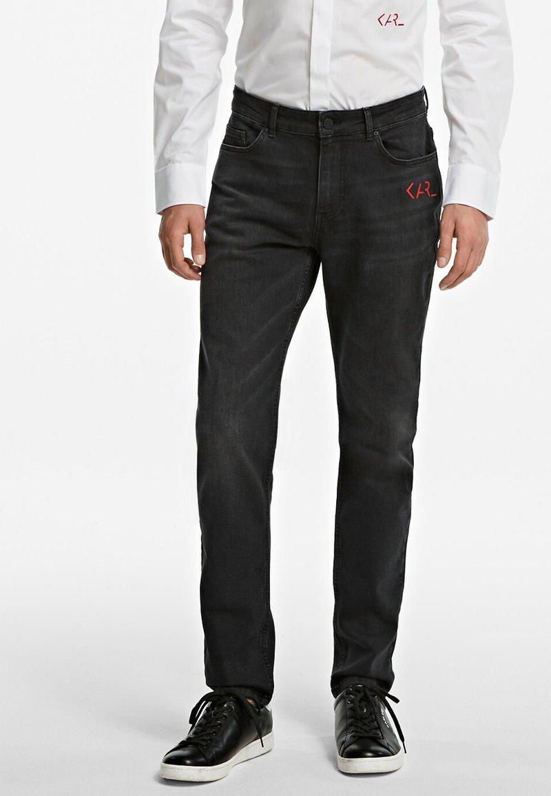 KARL LAGERFELD - Slim fit jeans - black