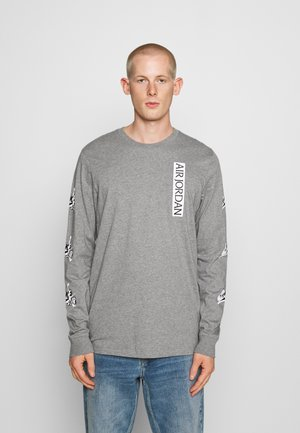 CLASSICS CREW - Long sleeved top - carbon heather/white/black