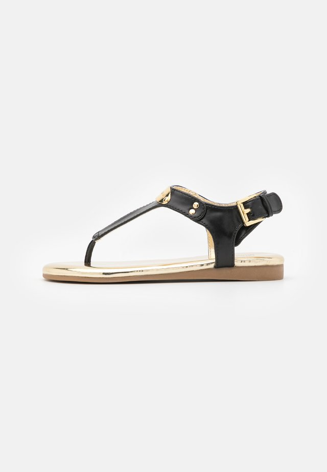 TILLY JANE - T-bar sandals - black smooth