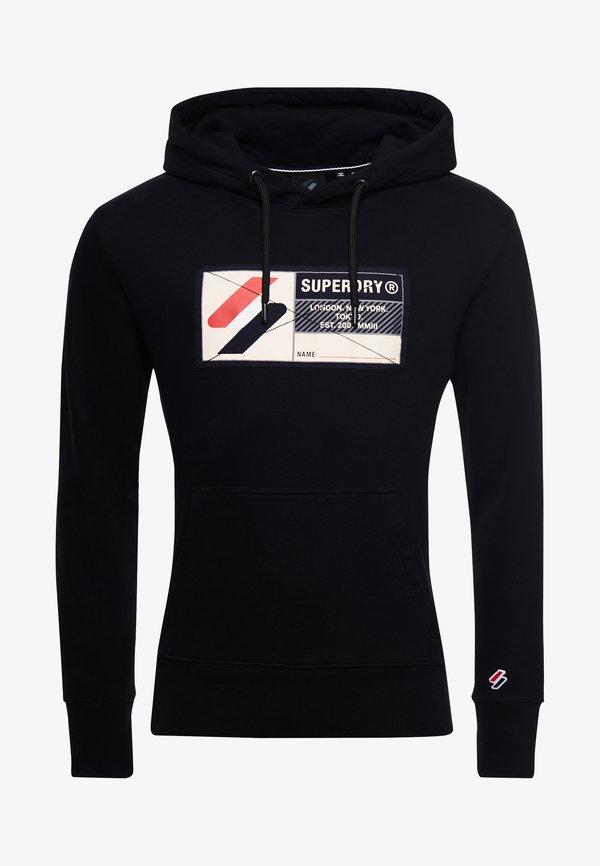 Superdry Bluza z kapturem - black/czarny Odzież Męska NHZN