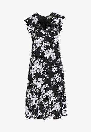 MIDI - Day dress - black/white