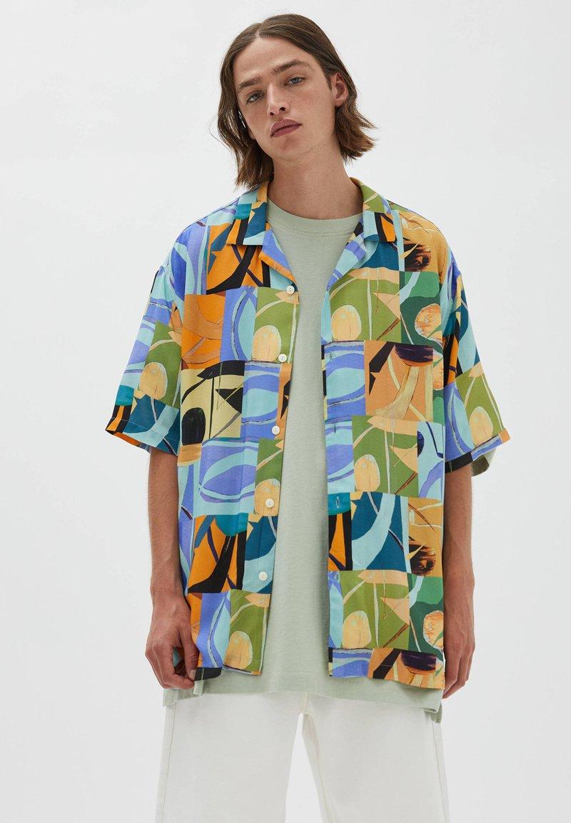 PULL&BEAR - Chemise - turquoise