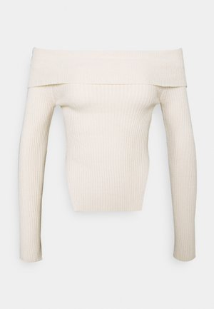 OFELIA OFF SHOULDER - Strickpullover - warm white