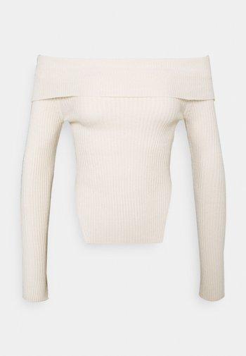 OFELIA OFF SHOULDER - Jumper - warm white