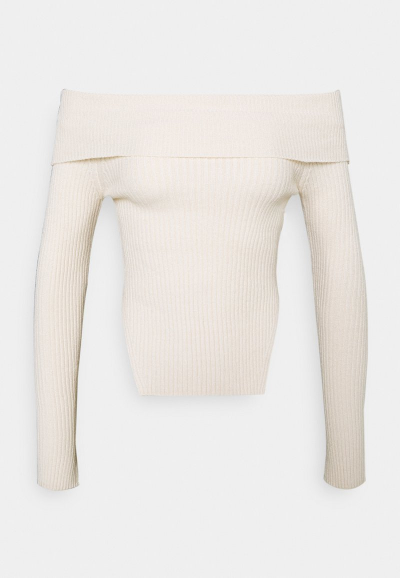 Gina Tricot - OFELIA OFF SHOULDER - Jumper - warm white