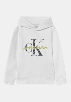 MONOGRAM NOISE HOODIE - Sweater - bright white