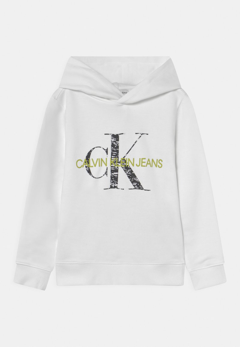 Calvin Klein Jeans - MONOGRAM NOISE HOODIE - Sweatshirt - bright white
