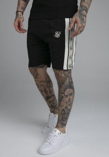 PREMIUM TAPE PLEATED SHORTS - Shorts - jet black/off white