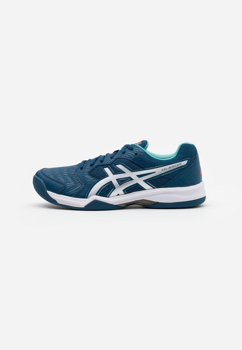 ASICS - GEL-DEDICATE 6 INDOOR - Tenisové boty na umělý trávník - mako blue/white