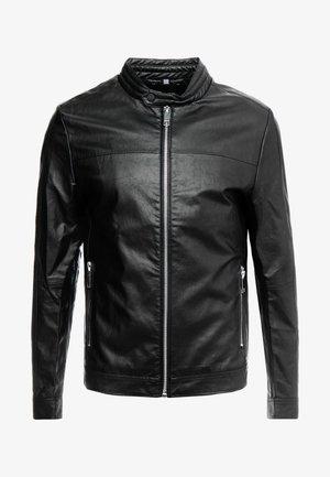 BIKER COAT - Giacca in similpelle - black