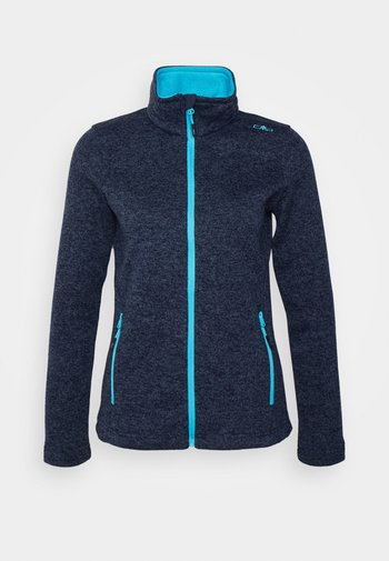 WOMEN JACKET - Giacca in pile - blue nero