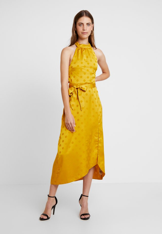 SELF SPOT MIDI DRESS - Day dress - ochre