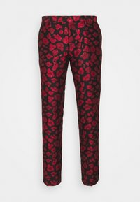 Twisted Tailor - FOSSA SUIT SET - Puku - black red - 15