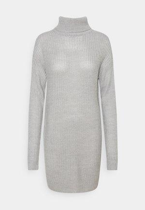 ROLL NECK BASIC DRESS - Strikket kjole - grey