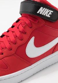 Nike Sportswear - COURT BOROUGH MID UNISEX - High-top trainers - university red/white/black - 2