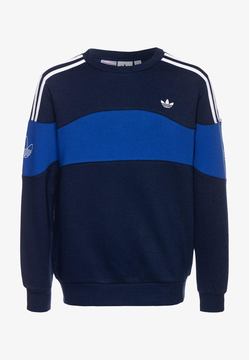 adidas Originals - BANDRIX CREW - Sudadera - night indigo/royal blue/white