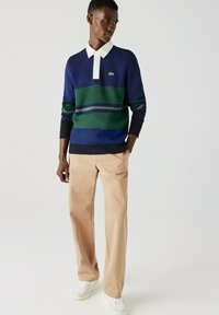 Lacoste - Polo shirt - navy blau / blau / grün / beige / weiß - 1