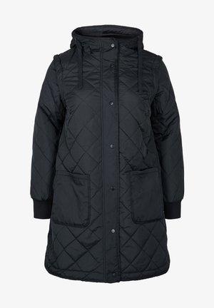 2IN1 MIT ABNEHMBAREN - Winter coat - black