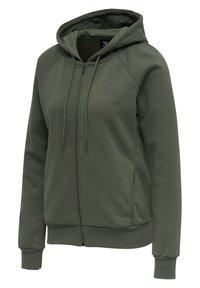 Hummel - HMLNONI  - Zip-up sweatshirt - beetle - 6