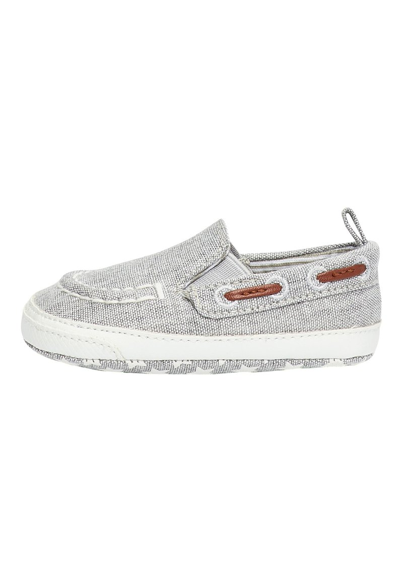 Next - GREY PRAM SLIP-ON BOAT SHOES (0-24MTHS) - Boat shoes - grey