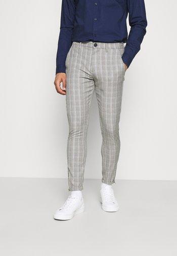 PISA CHECK PANT - Kalhoty - brown