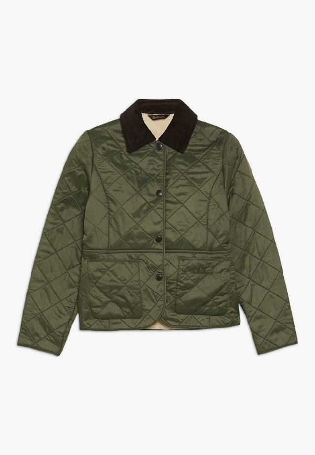 BARBOUR GIRLS DEVERON POLARQUILT - Light jacket - olive/pearl