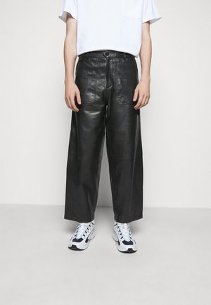 TEFF TROUSER  - Leather trousers - black
