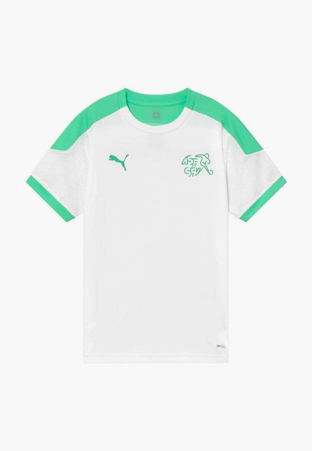SCHWEIZ SVF TRAINING - National team wear - white/green glimmer