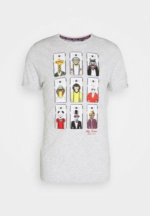 VINCENT - Print T-shirt - ecru marl