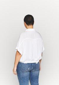 Cotton On Curve - CURVE EPIC TIE FRONT SHIRT - Blouse - white - 2