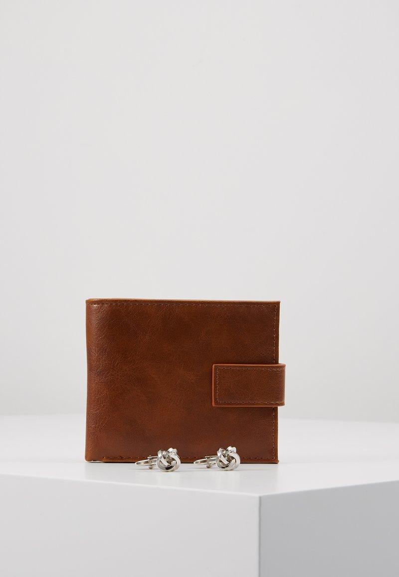 Burton Menswear London - COPP CUFF WALLET SET - Wallet - brown