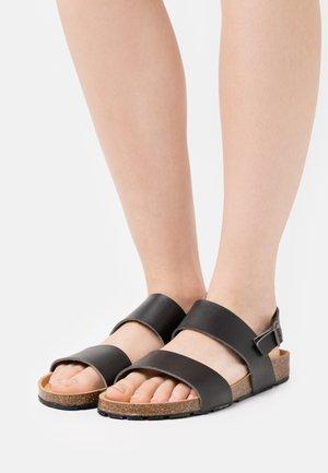 ZANDER VEGAN - Sandals - black