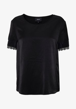 OBJEILEEN S/S  LACE TOP NOOS - Blouse - black