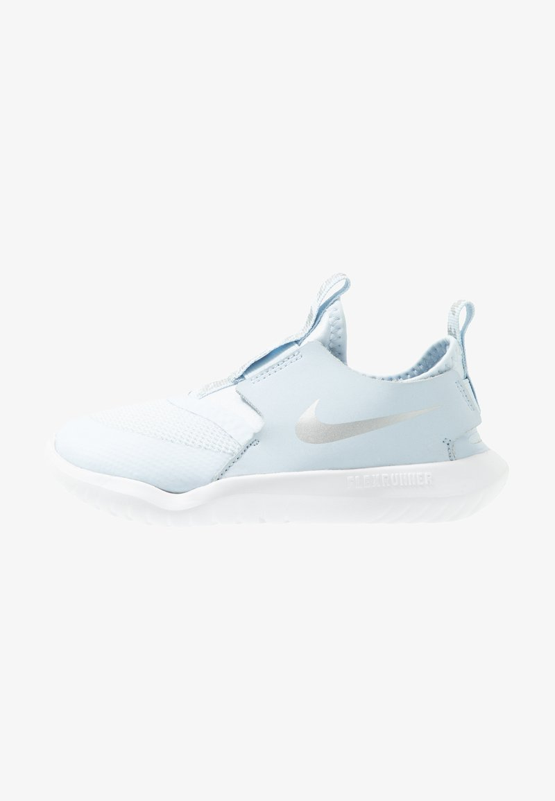 Nike Performance - FLEX RUNNER - Neutral running shoes - half blue/metallic silver/white