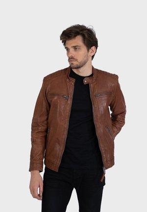 BERLIN - Leren jas - choco brown