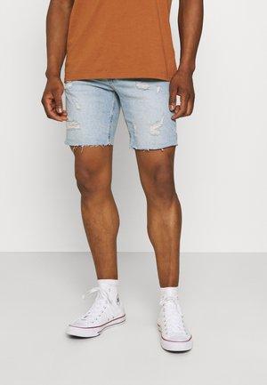 STRAIGHT SHORT - Denim shorts - vintage blue