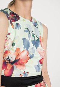 Anna Field - SLEEVELESS DRESS - Sukienka koktajlowa - light green/multi-coloured/pink - 4
