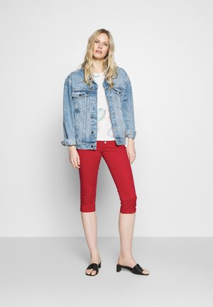 Jeans Short / cowboy shorts - fire red