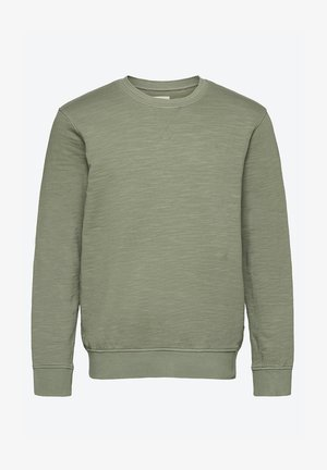 Sweatshirt - mottled light green