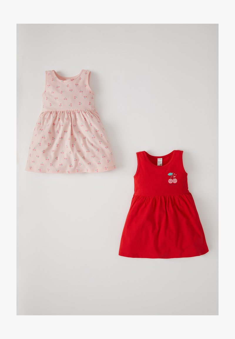 DeFacto - 2 PACK - Day dress - red
