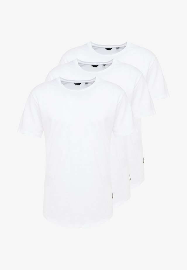 ONSMATT LONGY TEE 3 PACK - T-shirts basic - white