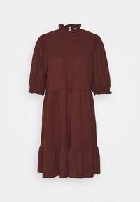 ONLY - ONLZILLE HIGHNECK DRESS - Shirt dress - bitter chocolate - 5